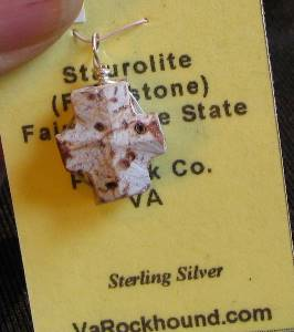 Virginia Staurolite (Fairy stone) Pendant
