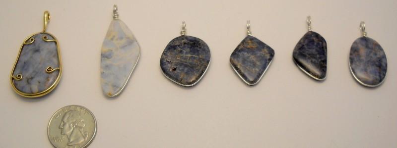 Blue Quartz Pendants Side -2