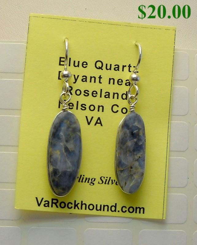 Blue Quartz Earrings view-1