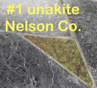 Unakite from Nelson Co. in RVCC soapstone counter top