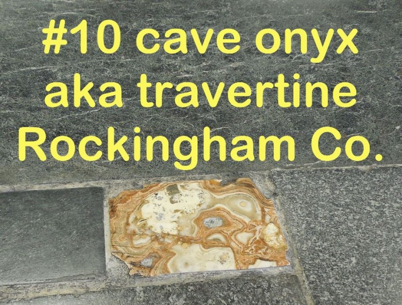 Cave Onyx, Travertine from Rockingham Co. in RVCC soapstone countertop