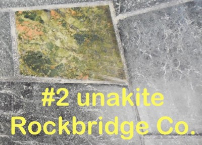 Unakite from Rockbridge Co. in RVCC soapstone countertop