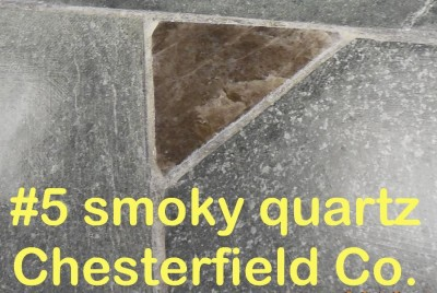 Smoky Quartz slab from Chesterfield Co. in RVCC soapstone countertop