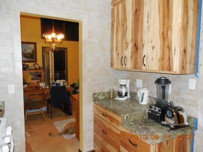 New kitchen, rainforest green marlbe counter, beige subway tiles-01