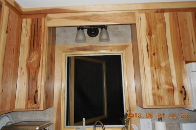 New kitchen, rainforest green marlbe counter, beige subway tiles-03