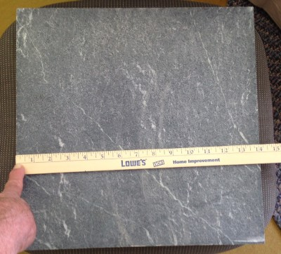 Soapstone slab 14x14x.75inches