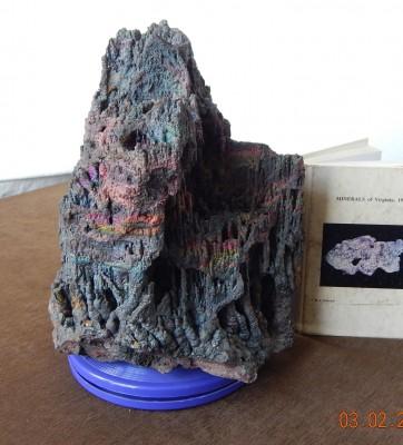Hematitite (iridescent stalactites), VA - 02