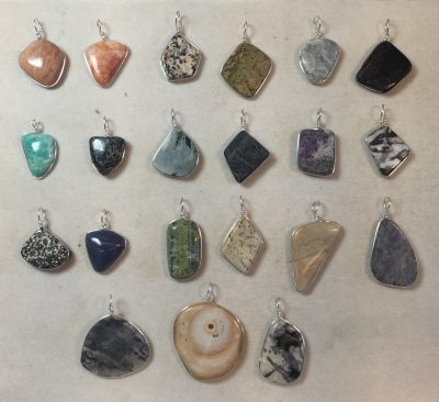 pendants made from Virginia rocks