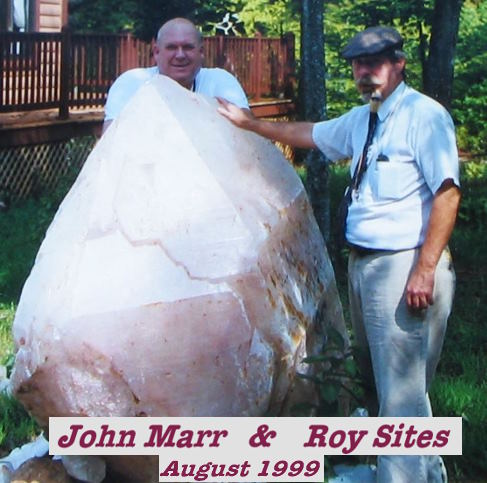 Dr. Roy Sites and John Marr at neighbors Aug. 1999